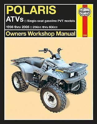 Polaris Atvs 1998 Thru 2006 Owners Workshop Manual 250cc Thru 800cc Single Seat 9781563926310 Ebay Polaris Atv 250cc Atv
