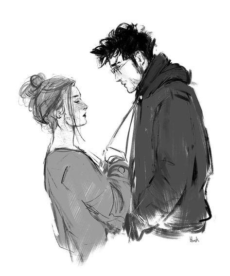 "Polubienia: 9,271, komentarze: 48 – Blvnk (@potterbyblvnk) na Instagramie: ""It's me again 😱  Ginny and Harry talking silently. After the war."""