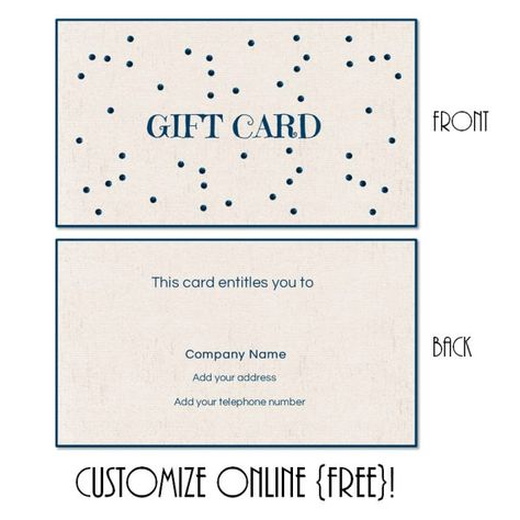 Gift cards are always nice! -Creative Habitat; Tip Top Pottery - free business certificate templates