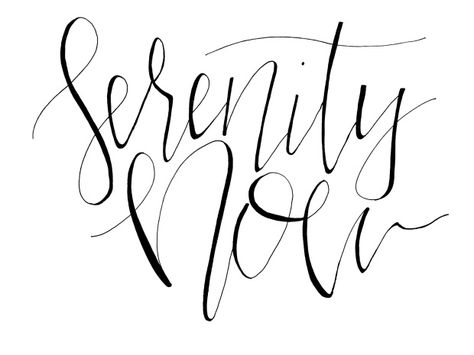 Hand Lettered Seinfeld Chronicles Serenity Now With Images