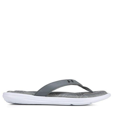 bc1efc0b2 Under Armour Women s Marbella Thong Sandals (Black Steel Grey)