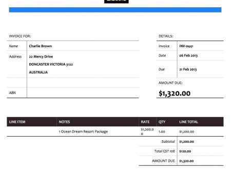 If you like a fresh look then the Project-forest Xero Invoice - music invoice