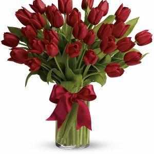 Hopeful Promises Bouquet Linda S Flowers Tulips Arrangement Amazing Flowers Red Tulips