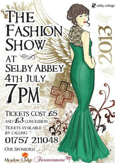 Poster The Selby College Fashion Show 2013 fashion posters - fashion poster design