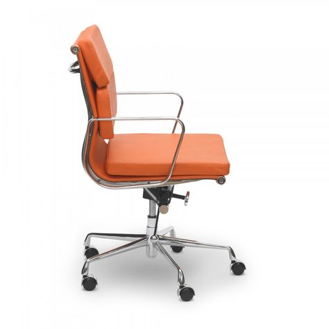 Iconic Designs Orange Short Back Soft Pad Executive Office