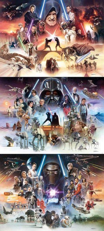 Complete Skywalker Saga artworks by Brian Rood