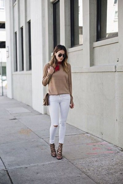 White Jeans - Here's How to Style the Cool-Girl Accessory of the Moment - Photos
