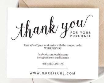 Thank you cards business Instant Thank You Cards Template Instant Download Editable Package Inserts Order Inserts Editable Postcards