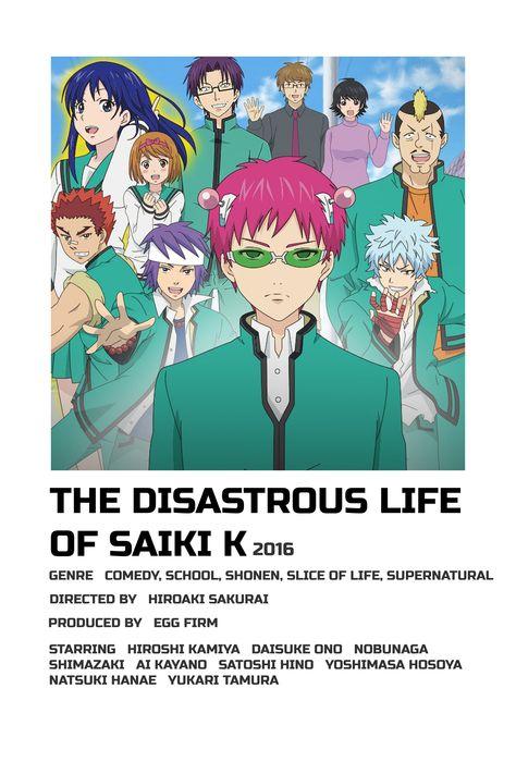 the disastrous life of saiki k polaroid poster