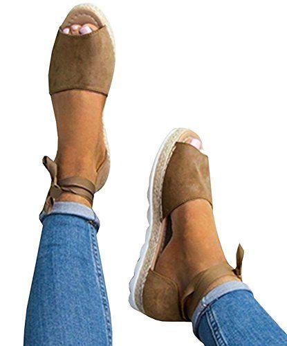 Sandales Décontractées Slip on Bande Elastique à Bretelle
