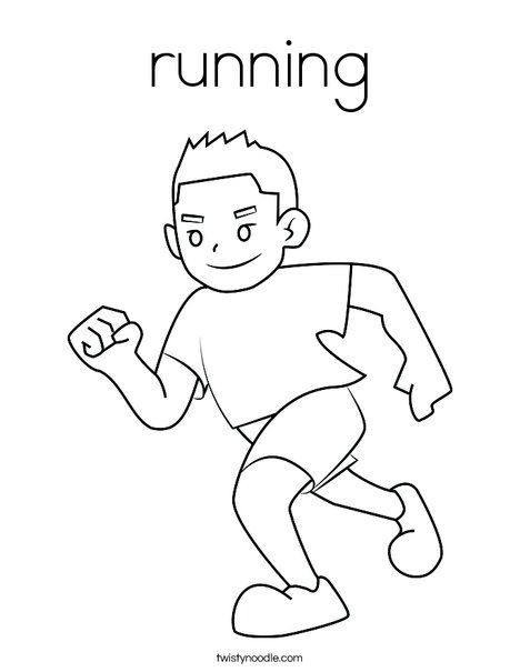 Running Coloring Page Twisty Noodle Coloring Pages For Boys Coloring Pages Coloring Pages For Girls