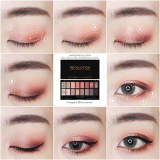 Makeup Asianmakeup Makeuptutorial Tutorial Howto Stepbystep Asian Eyeshadow Makeuplook Asian Eye Makeup Korean Eye Makeup Korean Makeup Tutorials