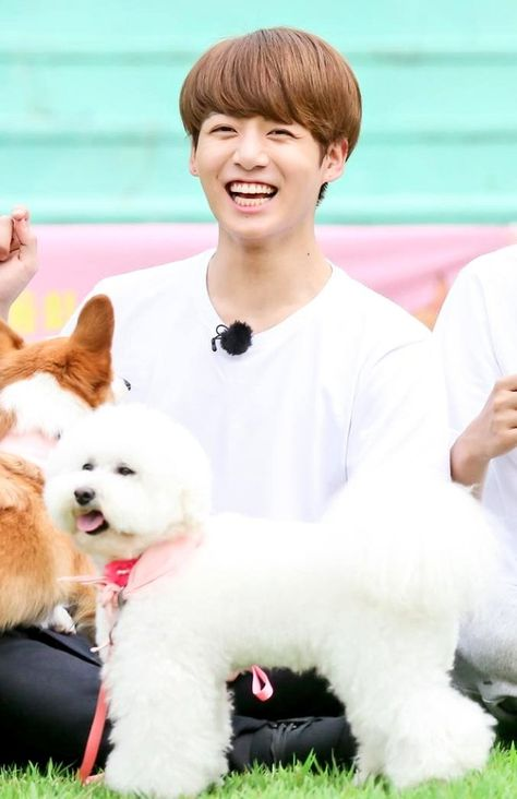 Jungkook mit sein Hund