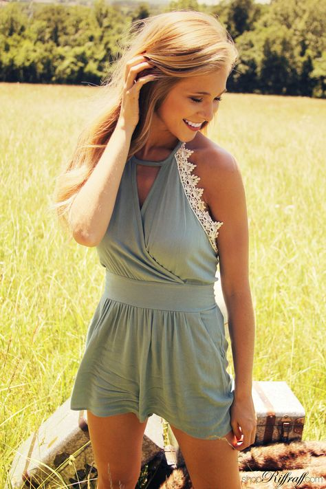 Halter romper with lace detail accent.. summer must have! #FREESHIPPING #summersafari