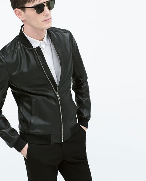 5bac471405 PERFORATED BOMBER JACKET #Zara