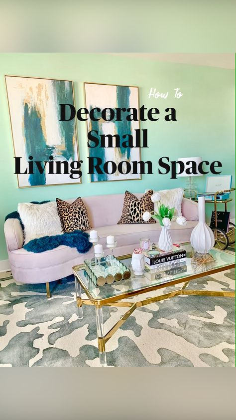 Decorate a  Small  Living Room Space