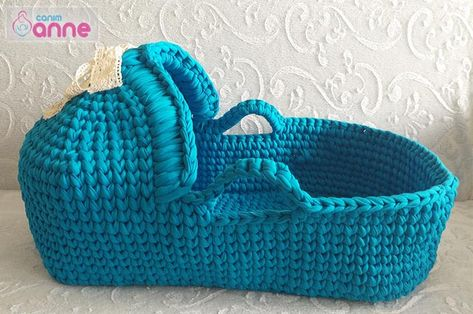 Gorgeous Crochet Moses Basket For Baby Free Patterns Crafts