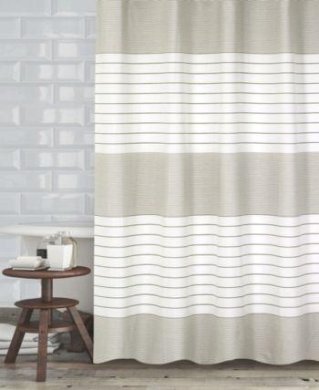 Popular Bath Pacey Shower Curtain Bedding Modern White Bathroom