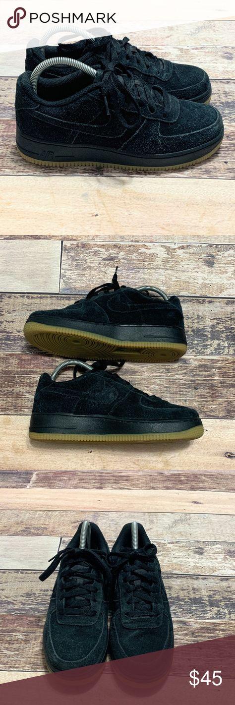 Details about Nike Air Force 1 High Croc Black Gum Womens size 6.5 Premium 654440 009 AF1 Sail