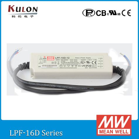 MEAN WELL LPF-16-12 16W 1.34A 12V Single Output Switching Power Supply