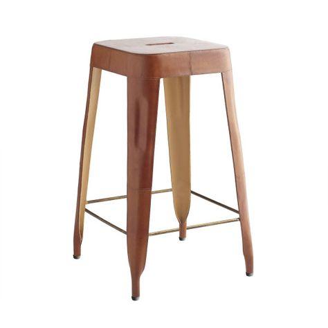 Astonishing Leather Counter Stool Tolix Style Furnishings Form Creativecarmelina Interior Chair Design Creativecarmelinacom