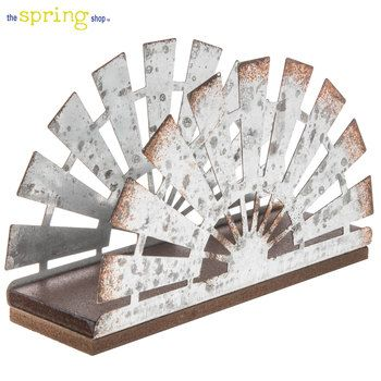 Galvanized Metal Windmill Napkin Holder Metal Windmill Napkin Holder Galvanized Metal