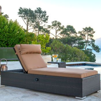Niko Chaise Lounge Chair with Side Table by Sirio™ metal feet costco on