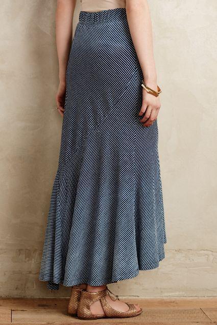 Pieced Stripe Maxi Skirt - anthropologie.com
