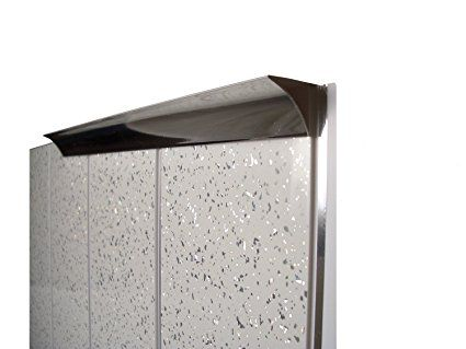 Chrome Panel Trim Perfect For Bathroom Kitchen Shower Wall Pvc