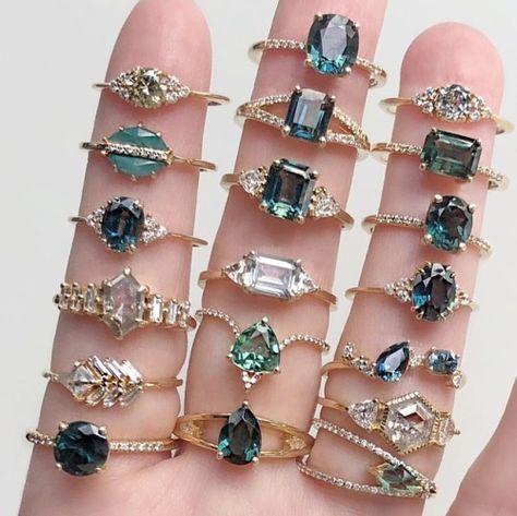Vale Jewelry Lune, Tropics, Juno, Shay, Fern, Marseille, Wendall, Thalia, Marcella, Venus, Neptune, Monroe, Hyeres, Ursula and Vertex Rings
