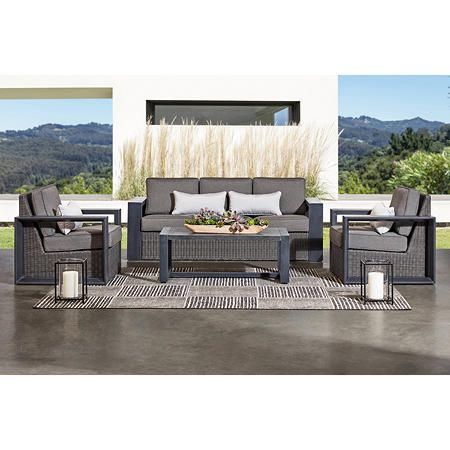 Member S Mark Adler 4 Piece Seating Set Sam S Club In 2020 Deep Seating Patio Furniture Deep Seating Seating