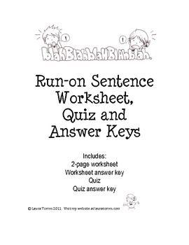 Correcting Run On Sentences Worksheets Photos - Toribeedesign