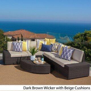 Havenside Home Best Sail Bridge Outdoor 6 Piece Wicker Sofa Set