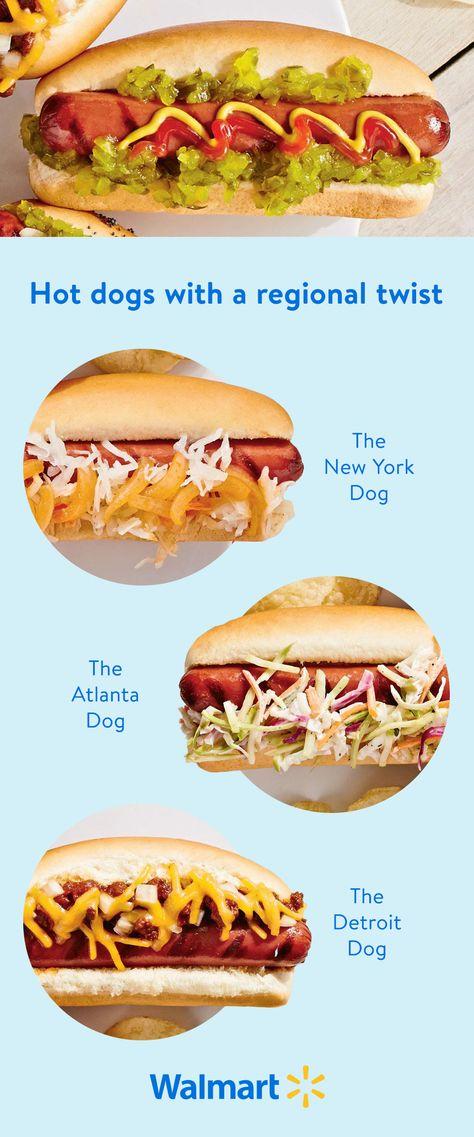 Regional twists on all-American hot dogs
