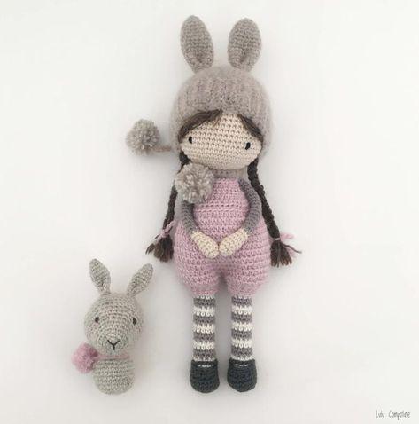 LOT de 2 Tutoriels Pdf en Francais/English poupées au crochet Lou et Luce, patron, explications, modele au crochet à télécharger