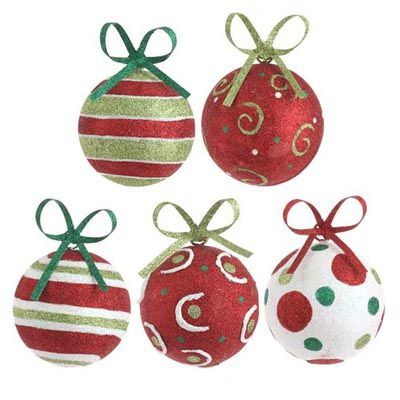 Polka Dot Christmas Ornaments