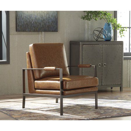 Home Brown Accent Chair Living Room Chairs Leather Accent Chair