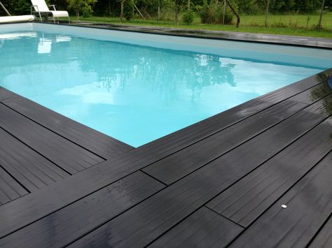 Ocewood® - Plage de Piscine en bois composite Optima Basalte - Moka