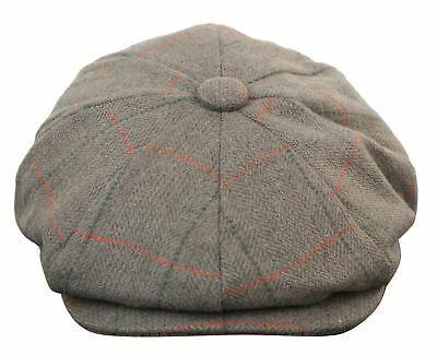 2e1e49cd8 Details about Mens Tweed Newsboy Cap Peaky Blinders Baker Boy Flat ...