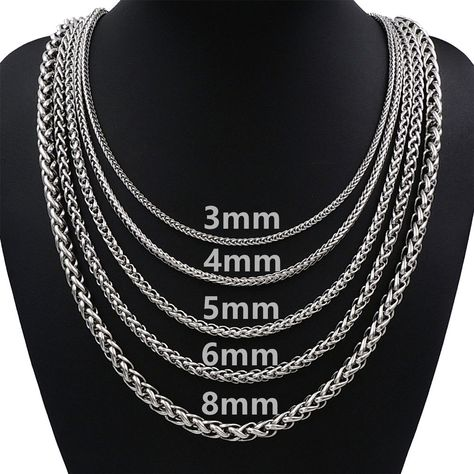 """4 Necklace Chains; Brand New Silver 18/"""" Chains"""