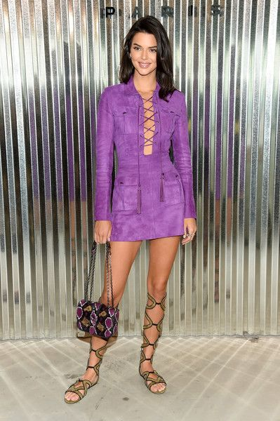 Model Kendall Jenner poses backstage at the Longchamp Fashion Show during New York Fashion Week.