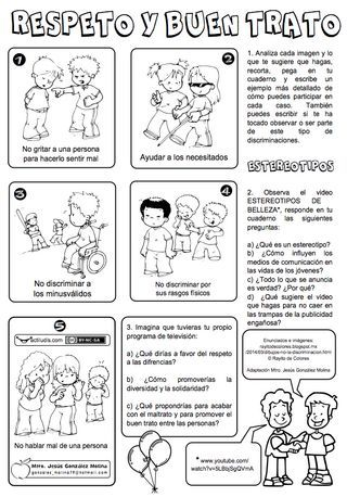 Respeto Y Buen Trato Actiludis Educacion Emocional Español De Escuela Primaria Buen Trato