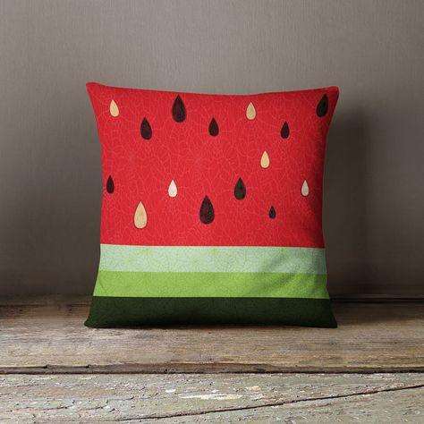 Wassermelone Kissen Wassermelone Dekor Obst Von Wfrancisdesign