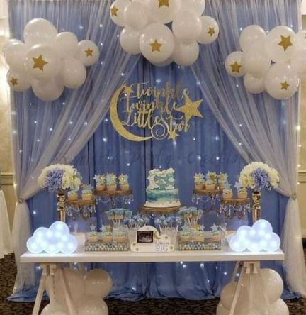 61 Ideas Baby Shower Decorations For Boys Twins Moon Baby Shower Twinkle Twinkle Baby Shower Baby Shower Decorations