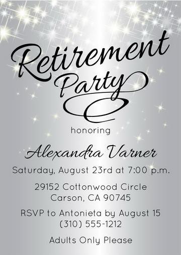 Retirement Party Invitations Announce It Retirement Invitation Template Retirement Party Invitations Retirement Party Invitation Wording