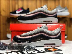 6c3616345ca7 Nike Air Max 97 1 Sean Wotherspoon Black Pink Grey AJ4219 406 Sneaker  Women s Men s Running Shoes