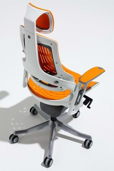 Orange Mesh Designer High Back Ergonomic Office Chair Orange Office Chairs Office Chair Design Chair