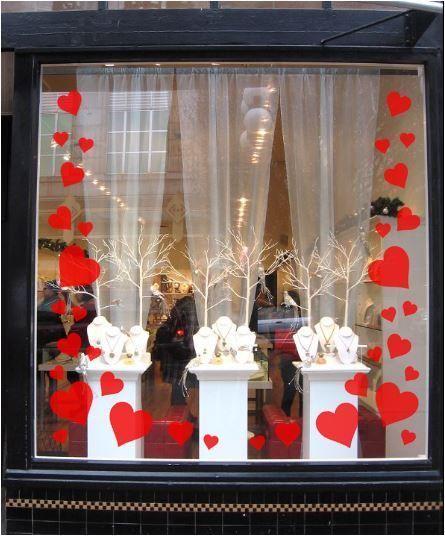 Stunning Florist Valentines Window Display Ideas - adney news Window Display Retail, Salon Window Display, Decoration Vitrine, Store Windows, Retail Windows, Window Art, Window Ideas, Shop Front Design, Valentines Day Decorations