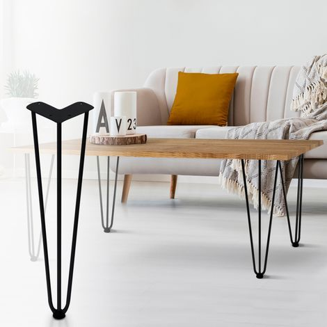 Lot De 4 Pieds Epingle 40 5 Cm Pour Table Design Industriel 13327 En 2020 Table Design Design De Table Pied Epingle