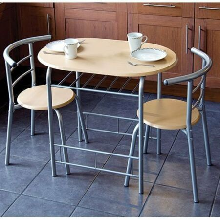 Details About Compact 2 Seater Dining Chairs Table Round Space